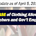 Release of Clothing Allowance: April 5, 2019 Update