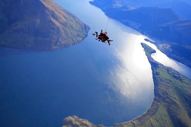 Saut en parachute Nouvelle-Zelande