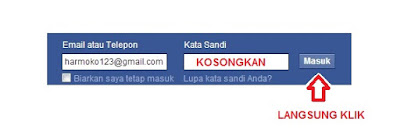 cara login facebook lupa password