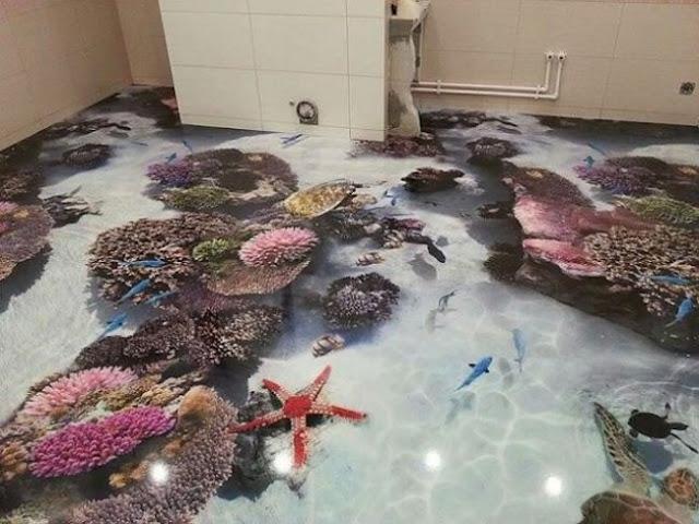 bathroom 3D floor designs