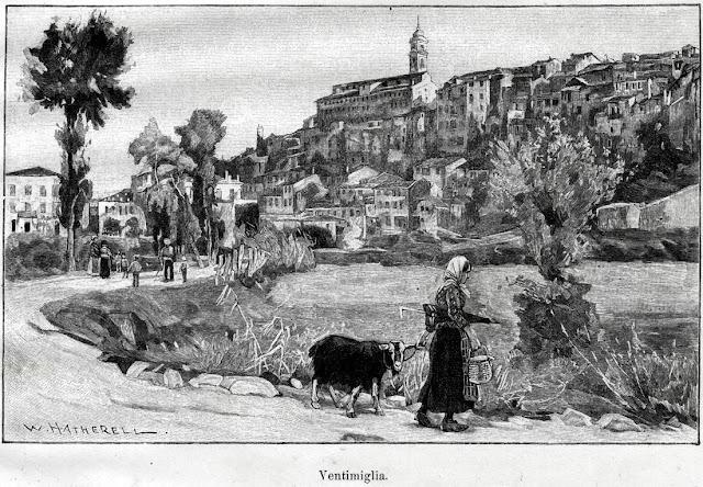 Ventimiglia in una stampa del 1892