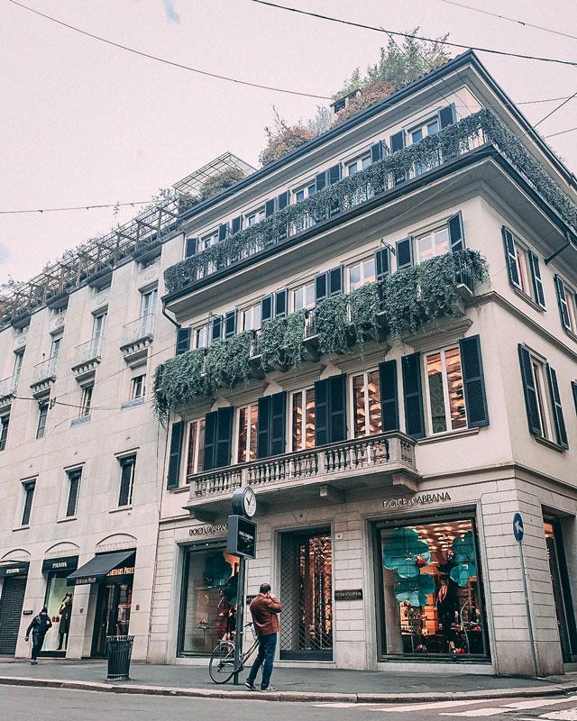 Tienda de Dolce Gabbana en Milan