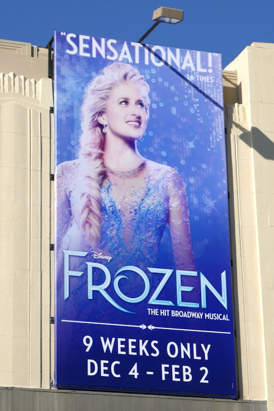 Disney Frozen musical billboard