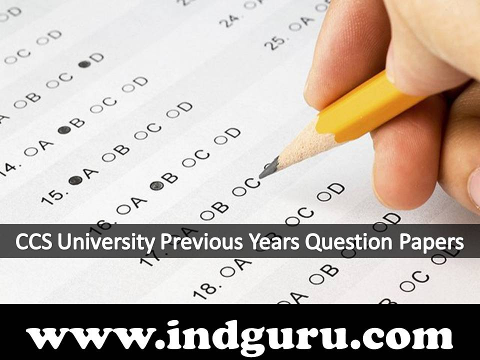 CCS University Previous Years Question Papers