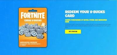 كيفية استرداد اكواد وبطاقات هدايا Fortnite