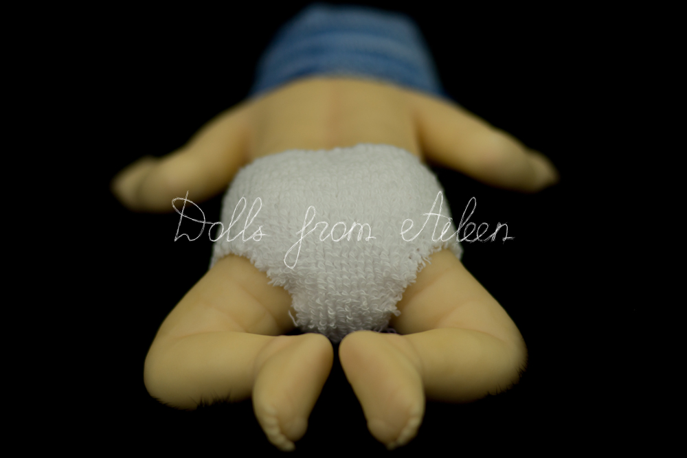 OOAK Hand Sculpted Mini Baby Boy Doll