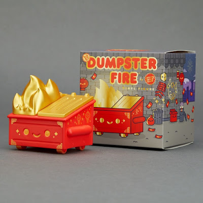Lunar New Year Dumpster Fire Vinyl Figure by 100% Soft