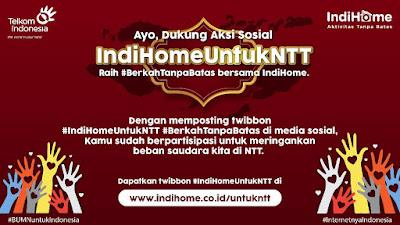 Telkom Wujudkan Aksi Peduli IndiHome untuk NTT