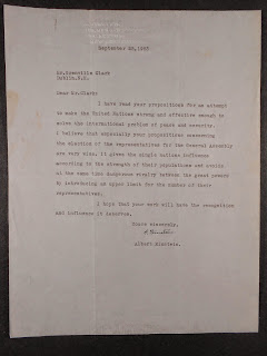 A typed letter.