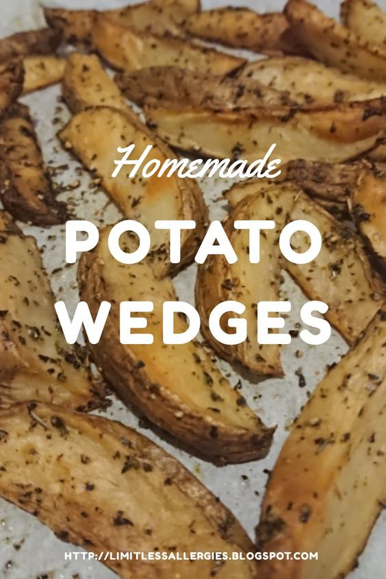 recipe pinning image for dairy free potato wedges