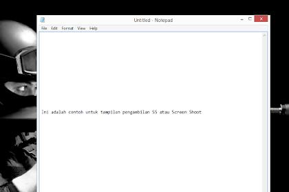 Cara Screenshoot Layar Laptop/Pc Dan Komputer Di Windows Memakai Paint
