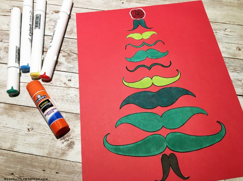 Christmas tree craft inspired by Dali