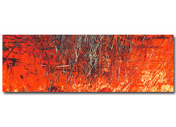 orange, red, abstract, red, wall art, canvas art, modern, large art, panoramic, urban art, contemporary, Sam Freek,