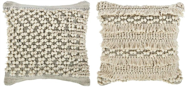 the best white and black textured throw pillows