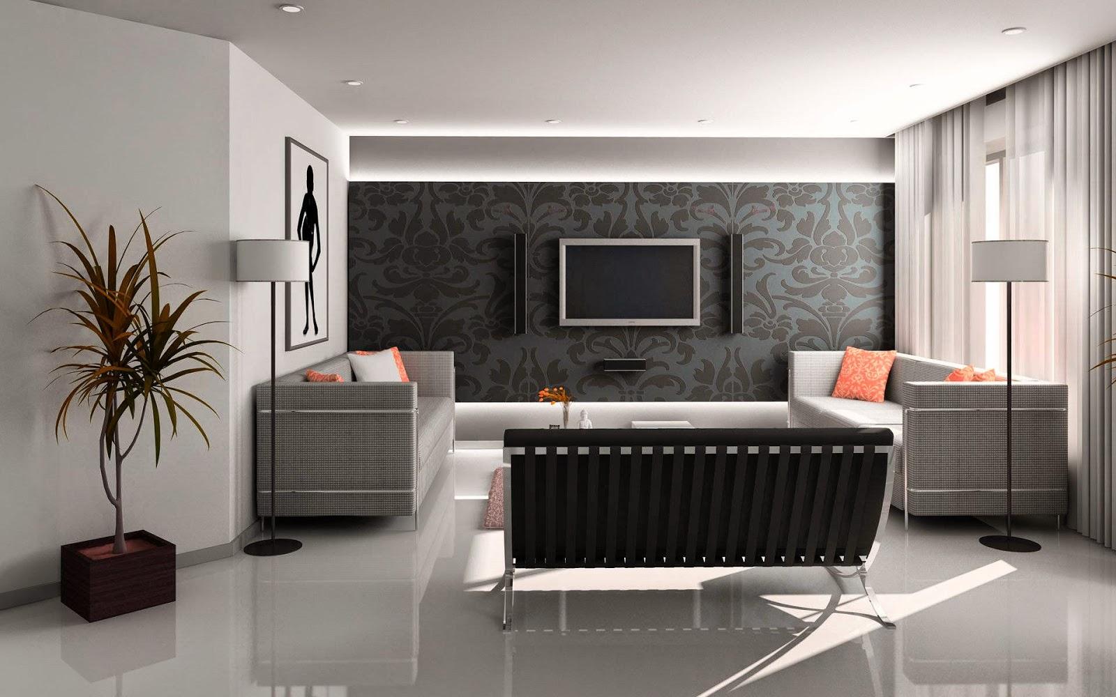 Deco Ruang Tamu Hitam Putih Desain Kamar Rumah Minimalisdesain