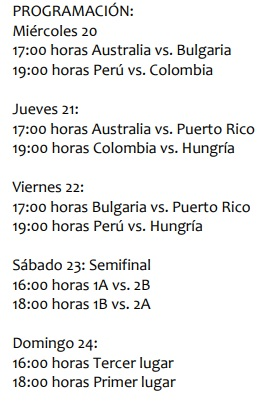 PROGRAMA DEL CHALLENGER CUP LIMA 2018