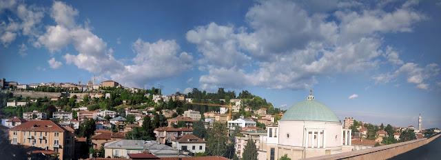 Attico Bergamo via statuto vista panoramica Città Alta