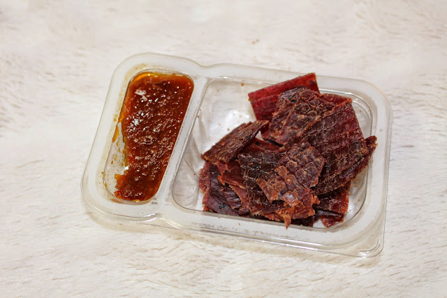 British Applewood Smoked Beef Jerky with Slow-Cooked Tomato Relish