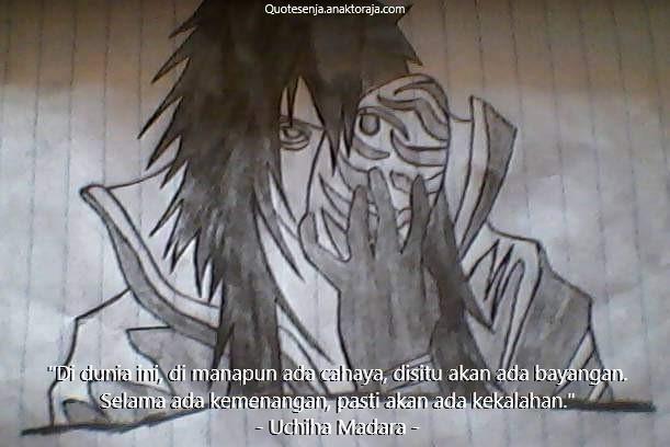 Gambar kata-kata Naruto terbaik - Madara Uchiha