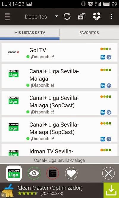 YoAndroideo.com: Splive TV, viendo la TV (incluida la de pago) en nuestros Androides