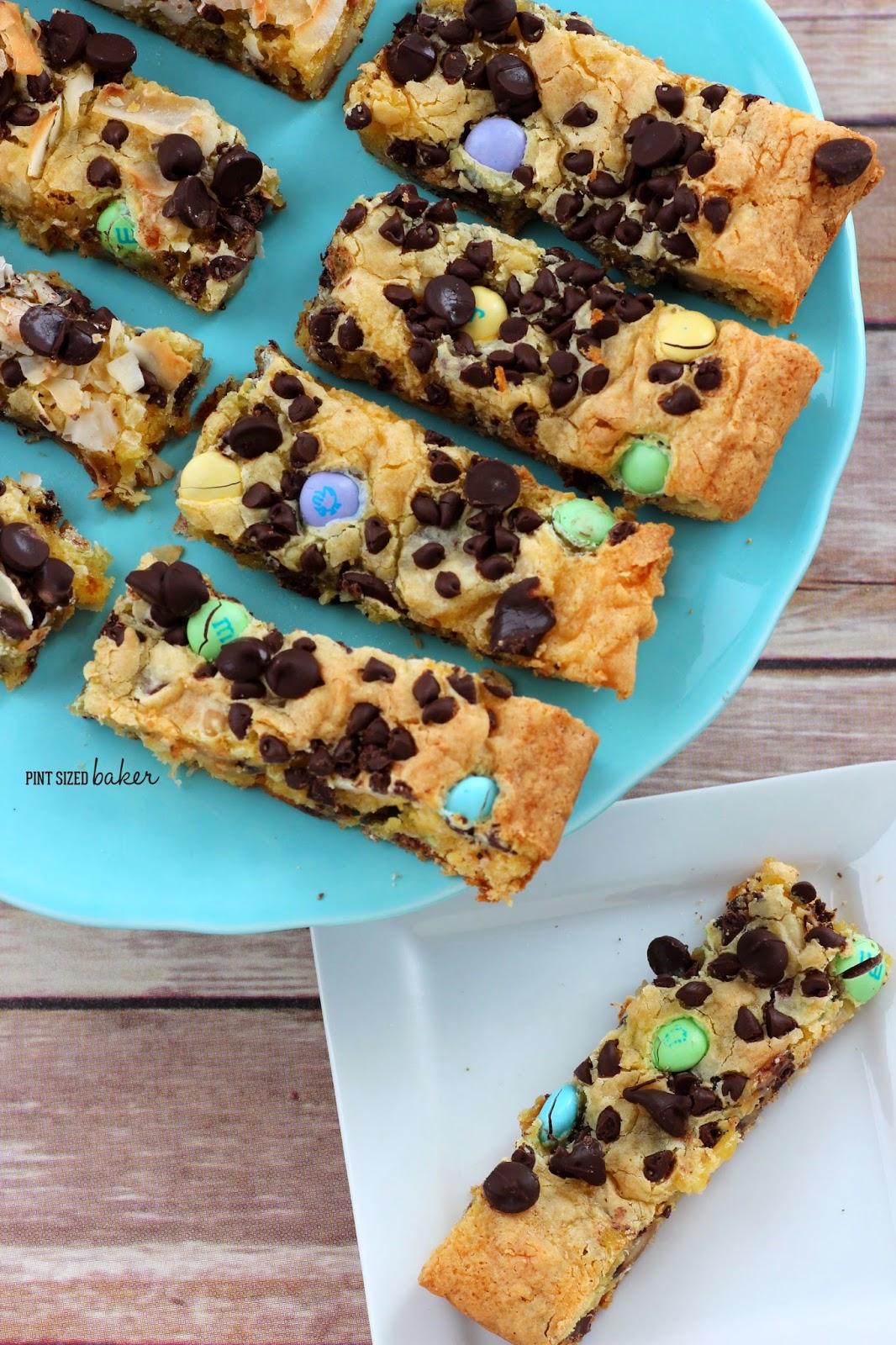Gluten Free Cake Mix Cookie Bars - Pint Sized Baker