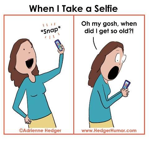 taking a selfie in Midlife #midlifehumor