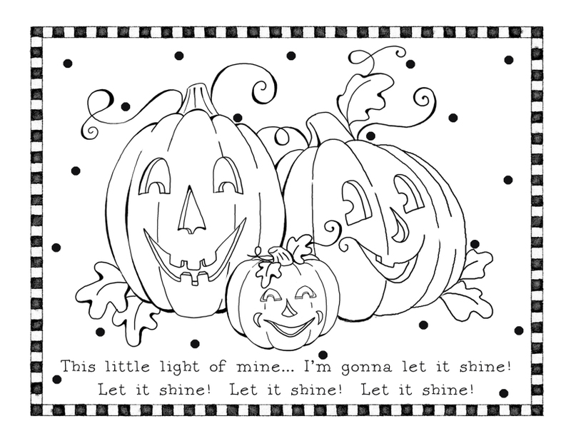 halloween printables coloring pages for kids | Fichas de Inglés para niños: Halloween worksheets
