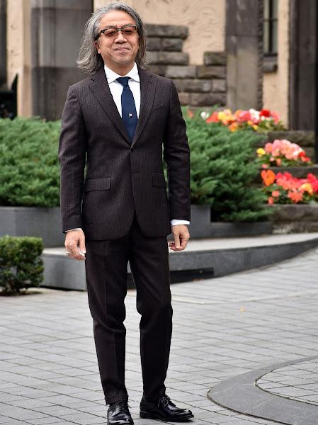 メンズ ビジネス スーツ スタイル