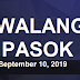 #WalangPasok: Class Suspensions for September 10, 2019