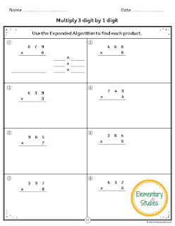 Multi Digit Multiplication Worksheets