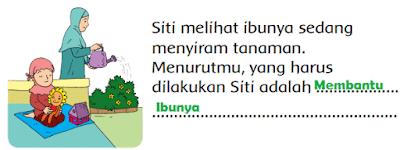 Siti melihat ibunya sedang menyiram tanaman www.simplenews.me