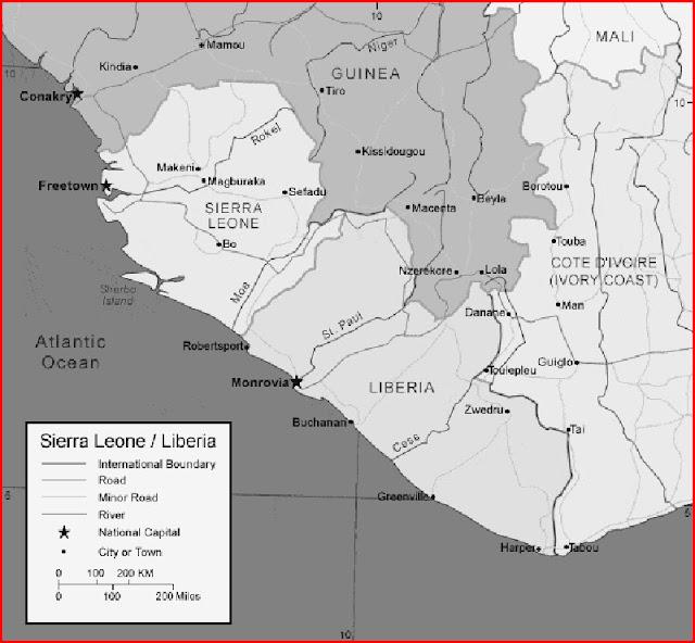 image: Black and Sierra Leone Map
