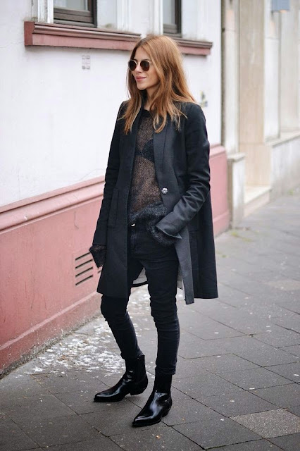 maja wyh all black outfit street style