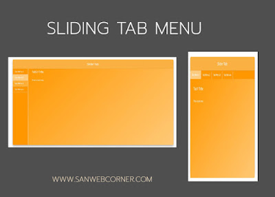 How to Create Super Sliding tab using Css and Jquery | Sanwebcorner