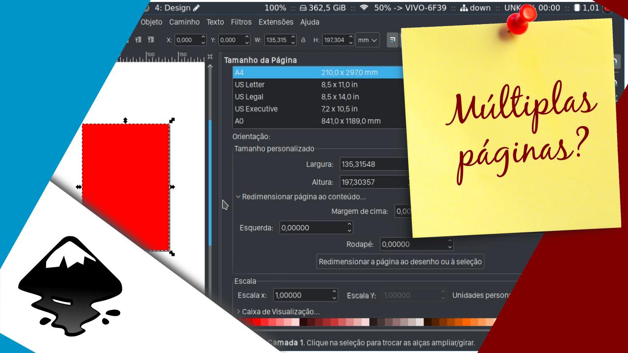 Múltiplas páginas no Inkscape. Realmente é necessário