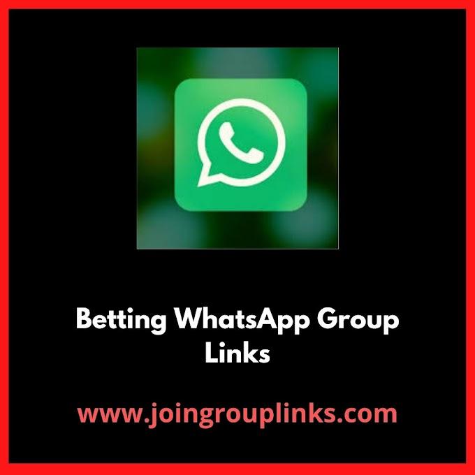 Betting WhatsApp Group Links