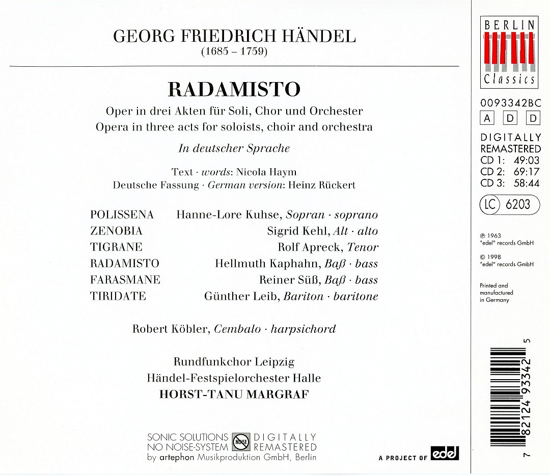 makdelart - classique: Handel - Radamisto (Horst-Tanu Margraf) [rec