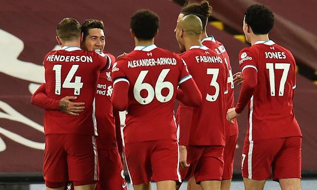 تشكيلة ليفربول الرسمية لمواجهة كريستال بالاس اليوم في الدوري الانجليزي
