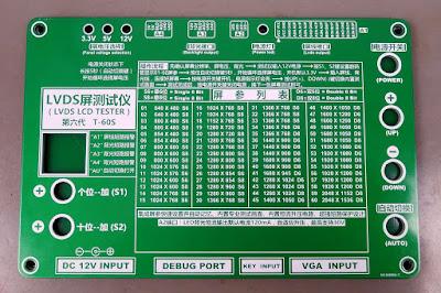 Painel do testador de Telas LCD de TV