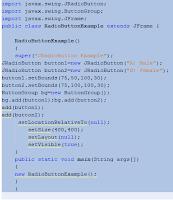 Java JRadioButton Example