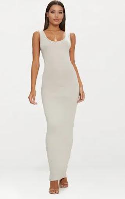 Stone basic maxi dress