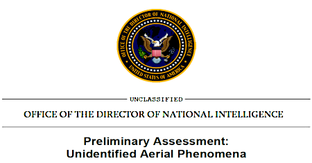 Pentagon UFO Report - Prelimary Assessment UAP (Heading) 6-25-21