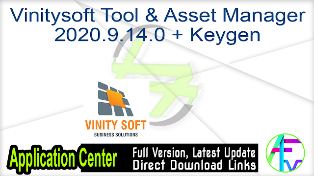 Vinitysoft Tool & Asset Manager 2020.9.14.0 + Keygen