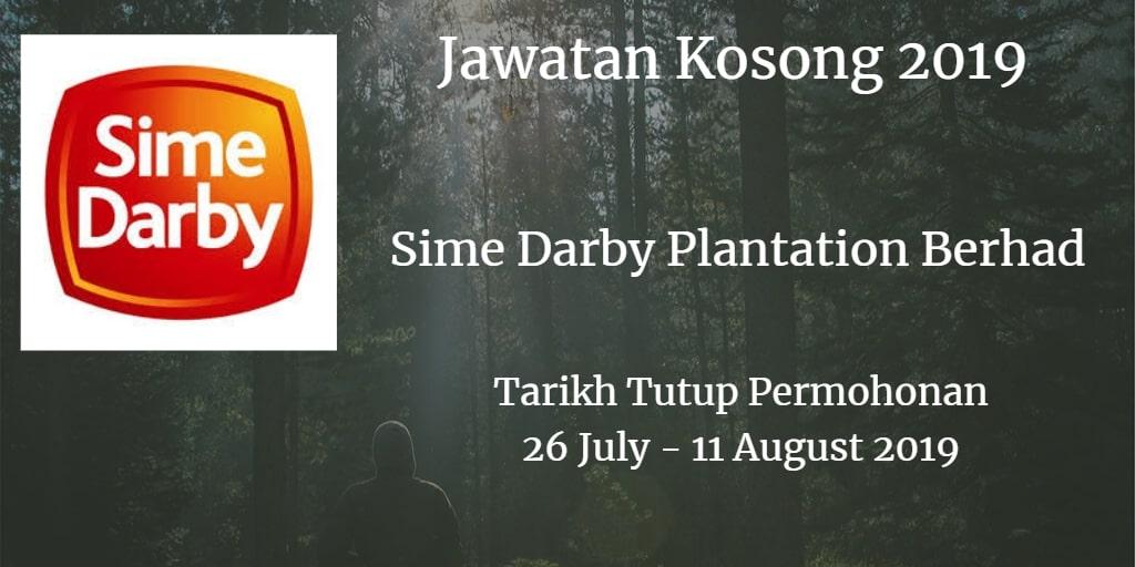 Jawatan Kosong Sime Darby Plantation Berhad 26 July - 11 August 2019