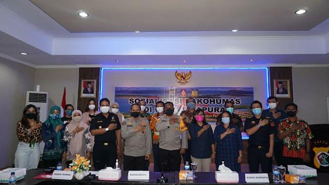 Tingkatkan Peran Kehumasan Polri, Ahmad Mustofa Kamal Gelar Asistensi di Polresta Jayapura Kota
