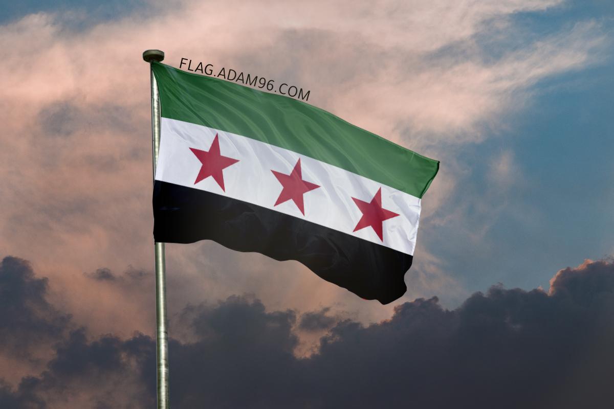 اجمل خلفية علم سوريا الحر يرفرف في السماء خلفيات علم سوريا 2021