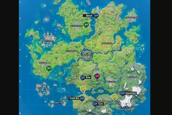 Letak Semua lokasi XP Coin di Fortnite Chapter 2 Season 3-6
