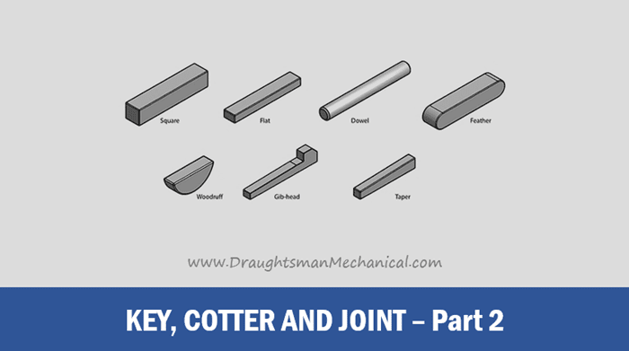 what-is-key-cotter-and-joint-in-engineering-drawing-hindi-language-part-2