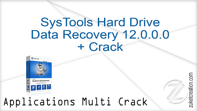 SysTools Hard Drive Data Recovery 12.0.0.0 + Crack