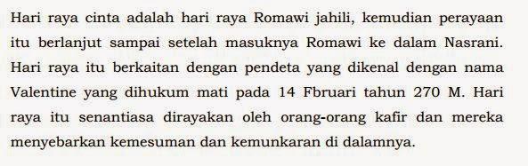Hukum Merayakan Hari Valentine